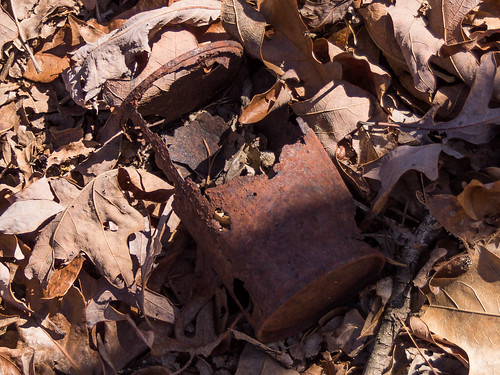 Rusted out can