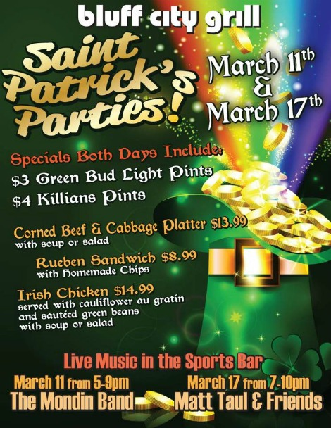 Bluff City Grill 3-11, 3-17-17