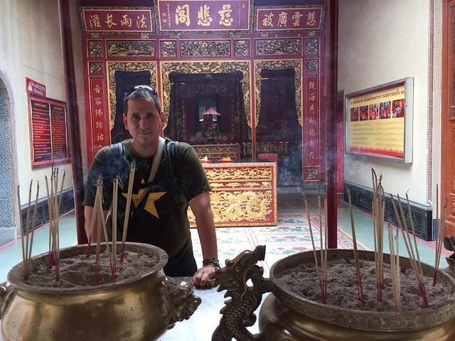 Sele en un templo chino