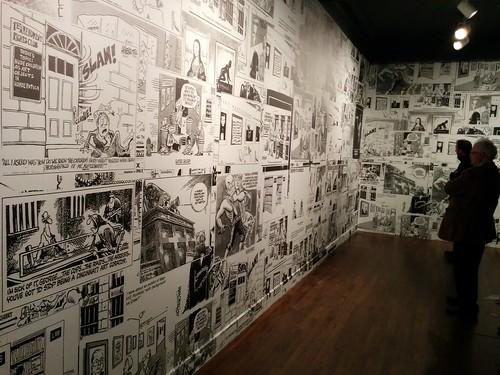 Walls of editorial cartoons