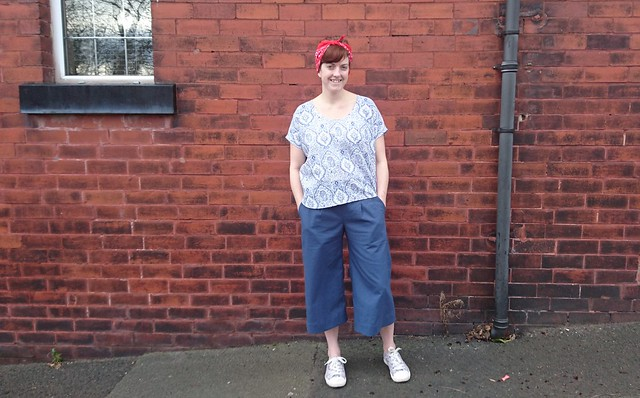 Sew DIY Lou Box Top and True Bias Emerson Pants