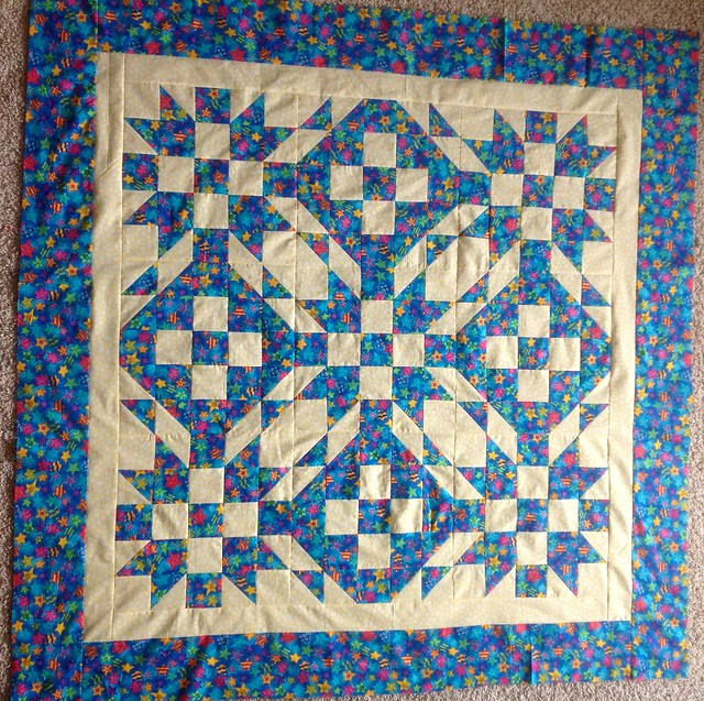 Scrap Dance Waltz top finished, piecing the back now.