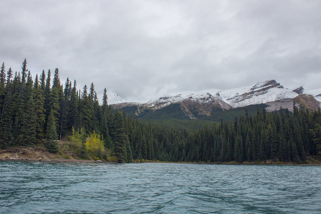Kayaking on Maligne Lake, Alberta