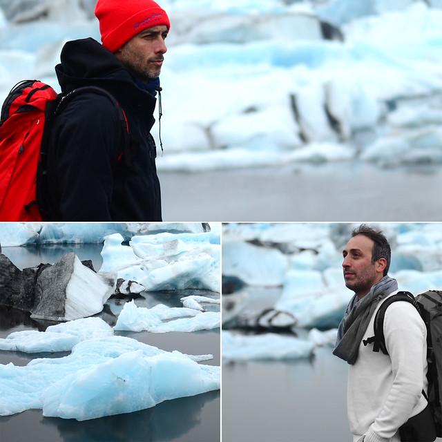Contemplando los gigantescos icebergs de la laguna de Jökulsárlón