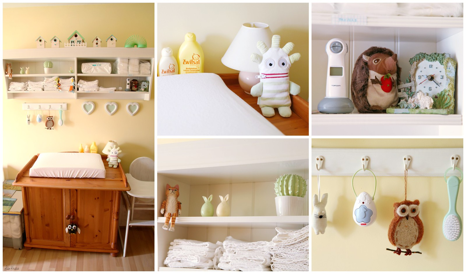 yellow green pastel white nursery gender neutral baby room bedroom boy girl wooden furniture ikea cute soft pale