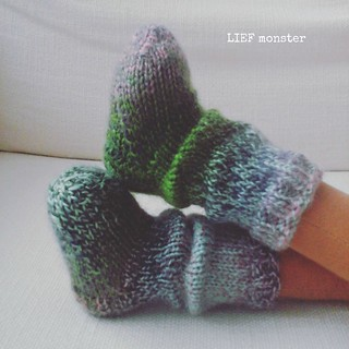 Custom knit doll socks