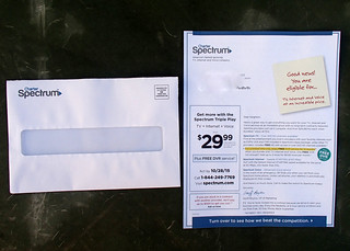Charter cable junk mail | by Judith E. Bell