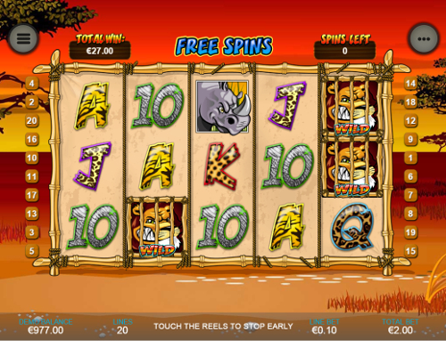 free Wild Gambler Mobile free spins feature