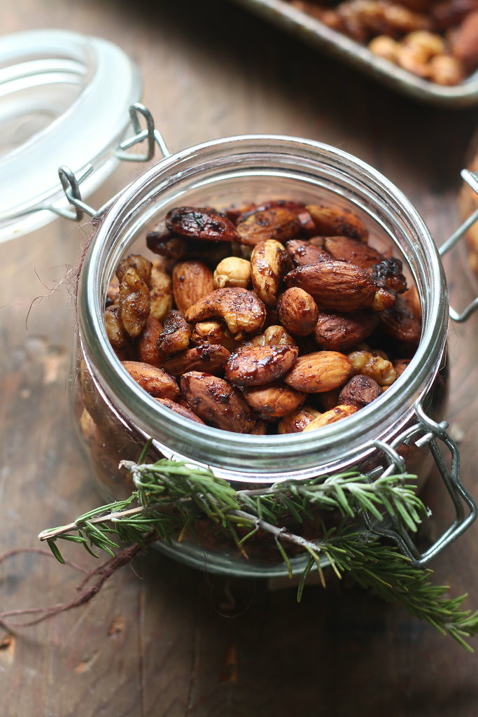 Balsamic Spiced Mixed Nuts- Indian Spices and Vegan