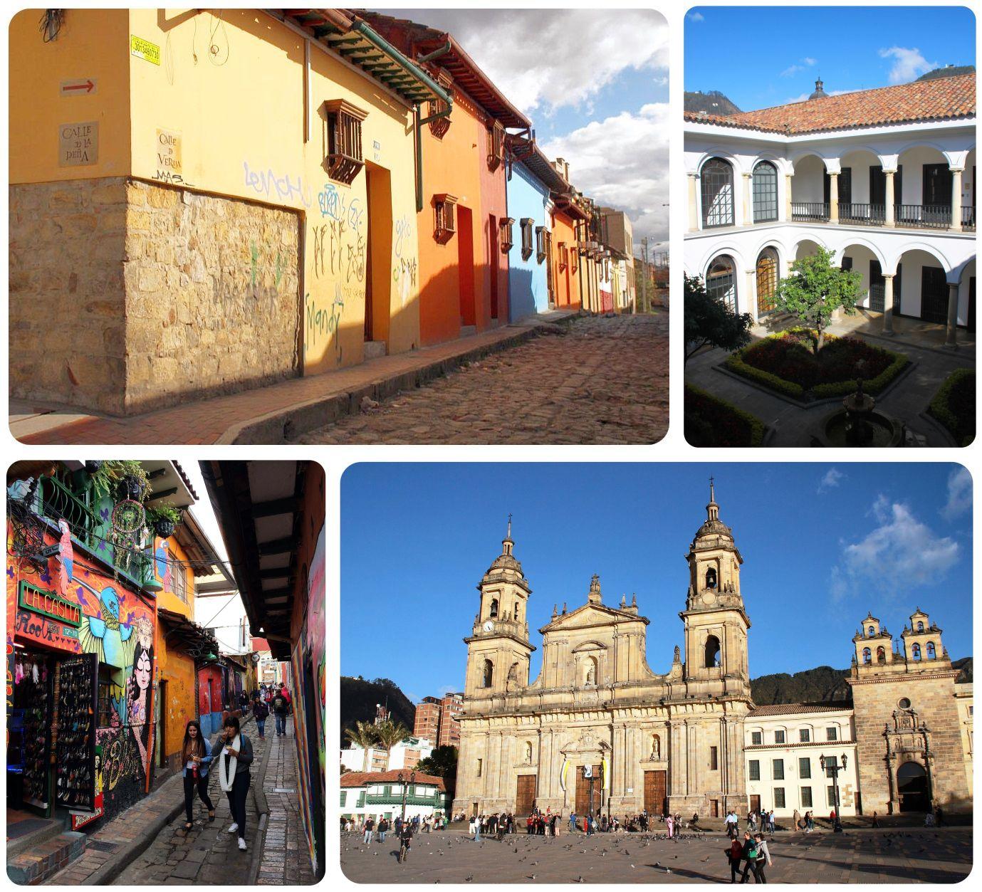 Bogota La Candelaria neighborhood Colombia