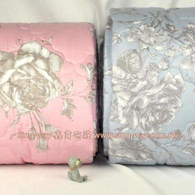 【限宅配】 素白大花 優美花卉 精梳棉鋪棉床品床單布料 B990083