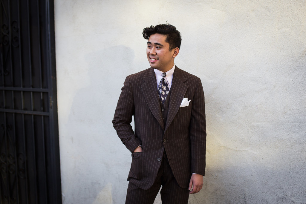 Tailoring a $3 Thrifted Suit: A Brown Chalkstripe Three Piece ...