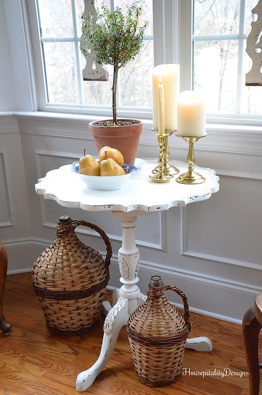 Pie Crust Table-Demijohns-Dining Room-Housepitality Designs