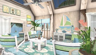 Perfect Ten, Tylar's Treasure Key West Living Room Mid Bright | by Hidden Gems in Second Life (Interior Designer)