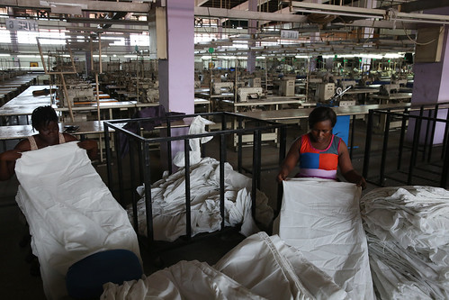 Factory workers producing shirts at Sleek Garment Export, in Accra, Ghana | by World Bank Photo Collection