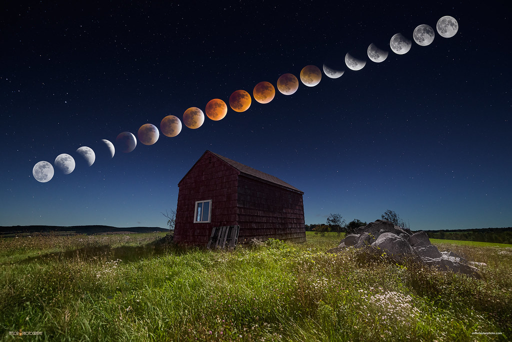 Super Blood Moon Eclipse Sequence | This image is a multiple… | Flickr