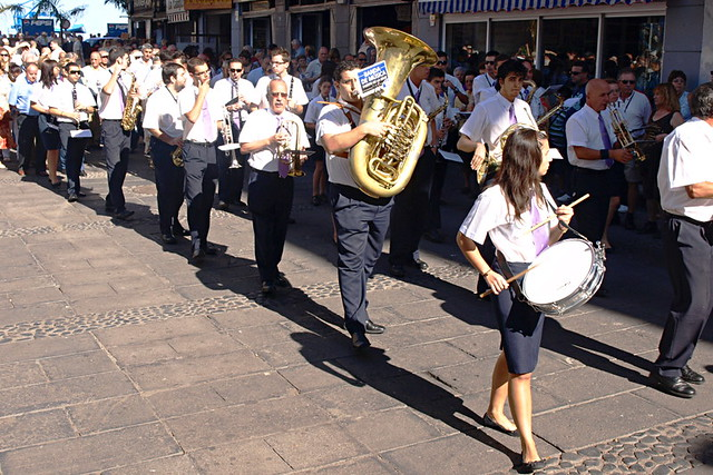 Brass band, Puerto de la Cruz, Tenerife