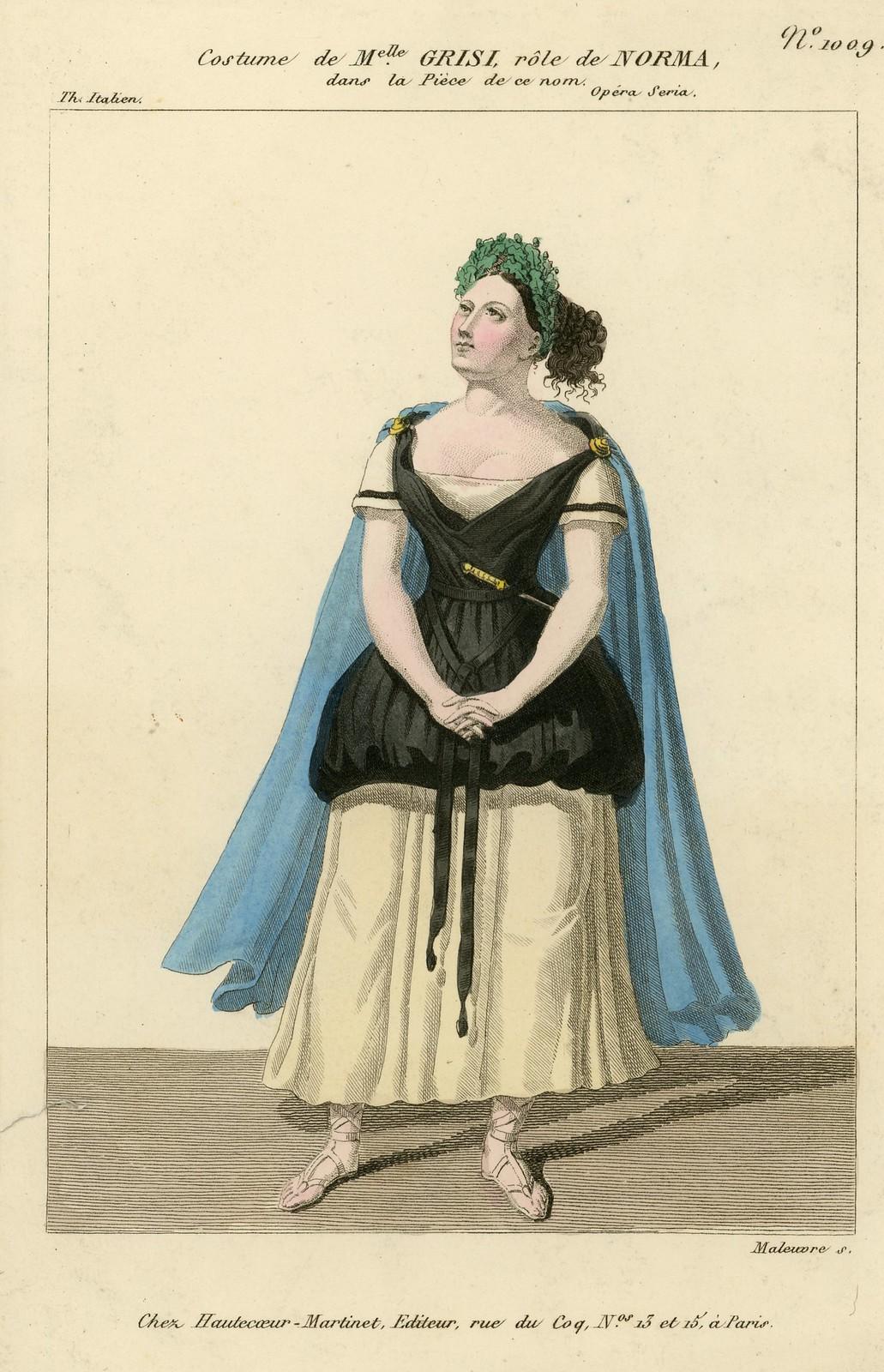Costume de Melle. Grisi, rôle de Norma [Cropped]