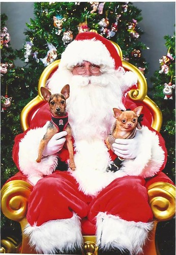 Henry and Nubz with Santa