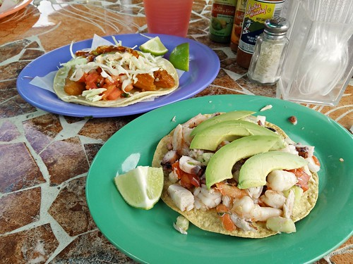 Tostada and Fish Taco