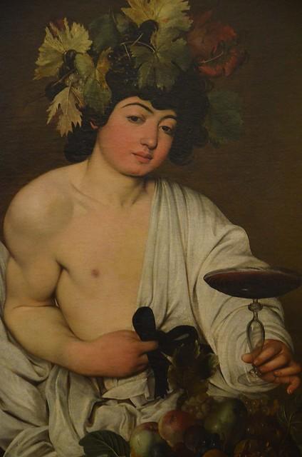 Bacchus by Caravaggio, ca. 1595, Galleria degli Uffizi