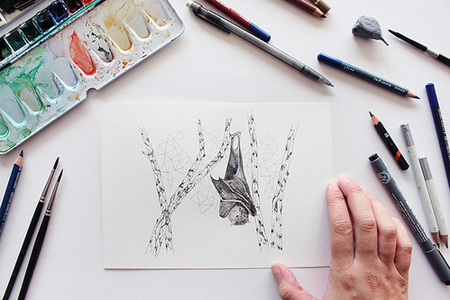 Time Lapse Drawing #2 · Bat | by the blue rabbit house