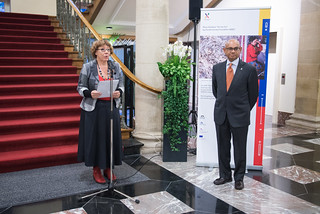 Ms Collette MART, Vice Mayor of the City of Luxembourg, delivering the welcoming remarks. | by Asia-Europe Foundation