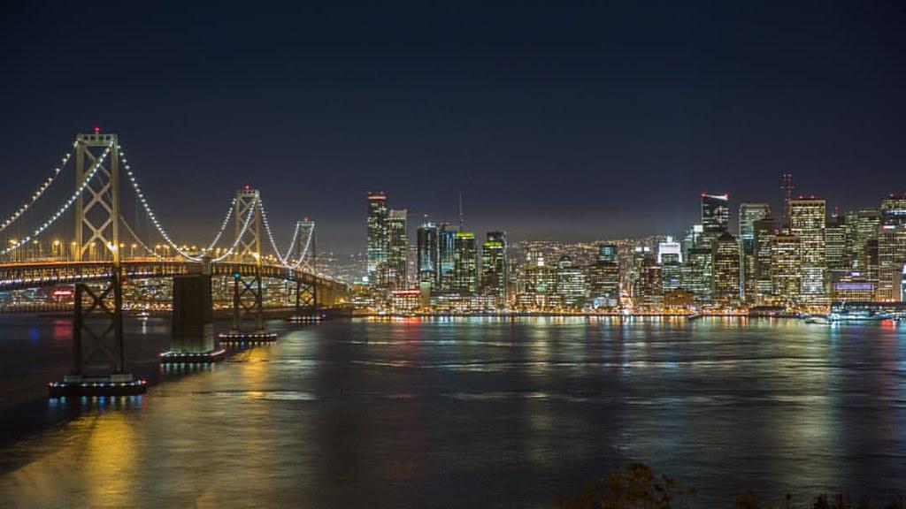 Some Oakland Bay Bridge action from Treasure