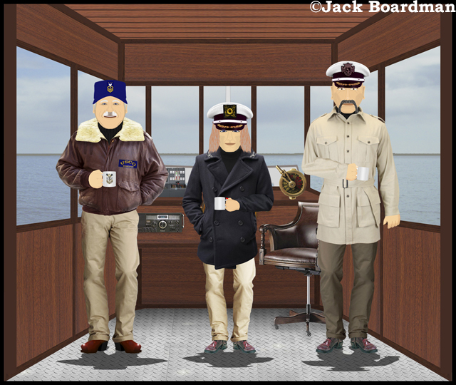 The captain was invited to the Martin's bridge ©Jack Boardman
