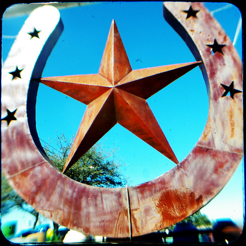 Star Horse Shoe Marble Falls Tx Pottery Ranch 2017 01