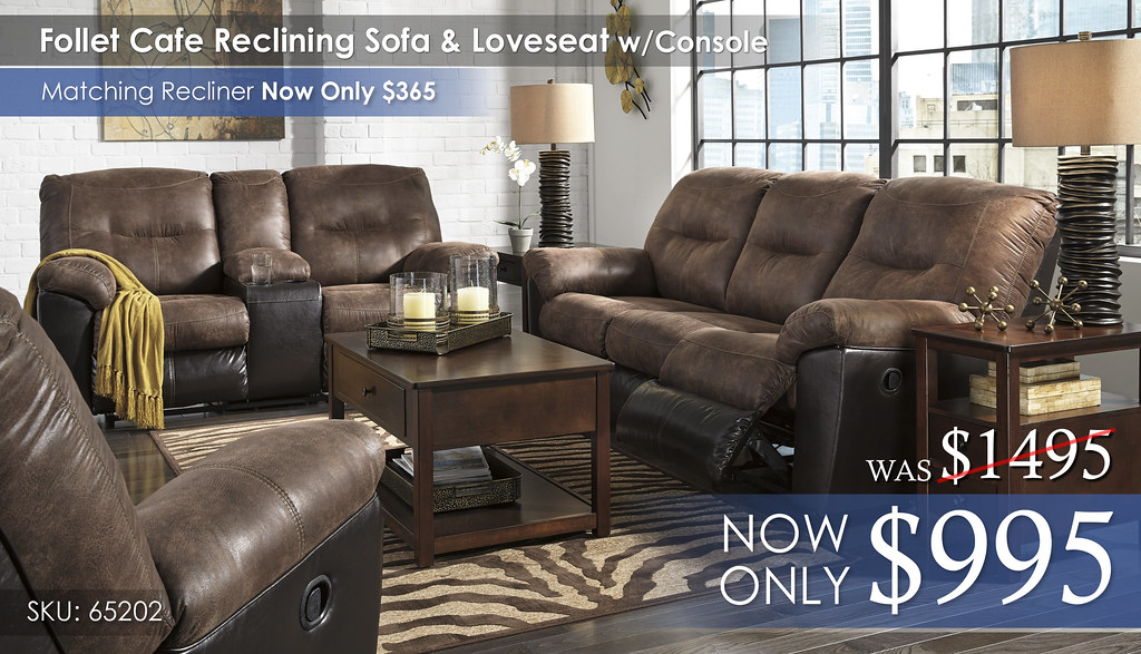 Follet Cafe Reclining Sofa & Loveseat 65202