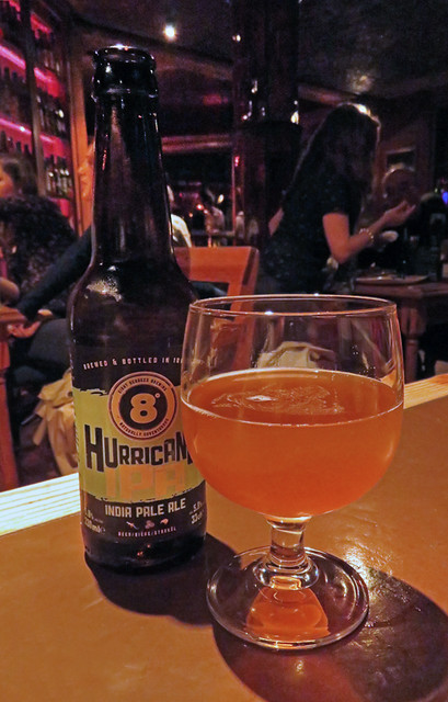 8° Hurricane IPA at Porterhouse Temple Bar, a brewpub in Dublin, Ireland