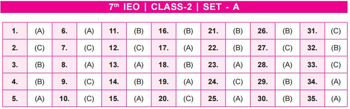 11th IEO 2020 - 2021 Answer Keys for Class 2