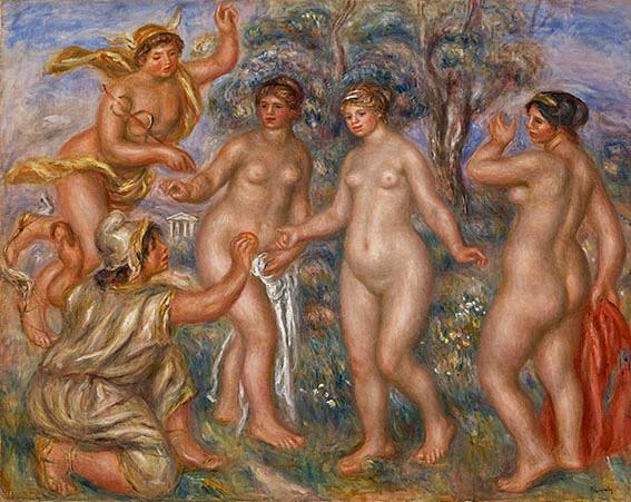 ルノワール《パリスの審判》(1913-14年、ひろしま美術館蔵)