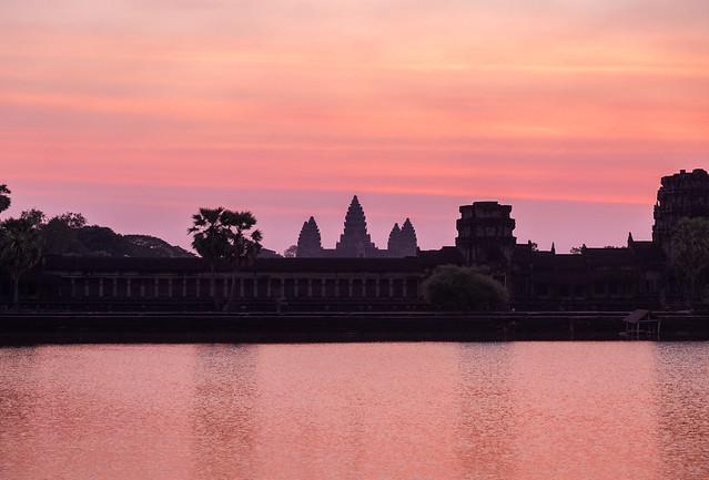 Angkor Wat during sunrise