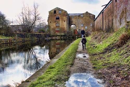 Abandoned warehouse on the canal