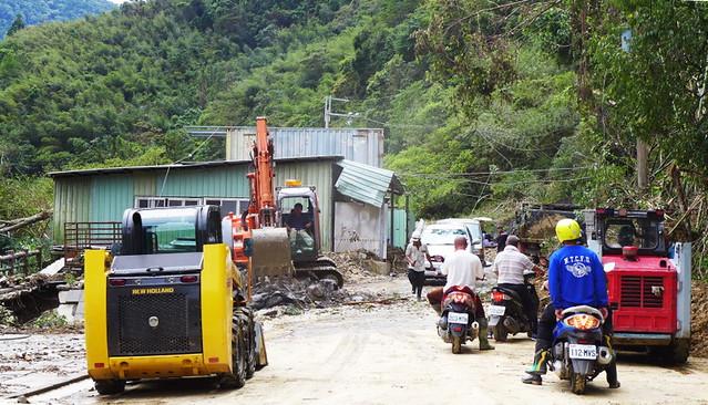 蘇迪勒颱風為烏來帶來嚴重災情。攝影:陳文姿。