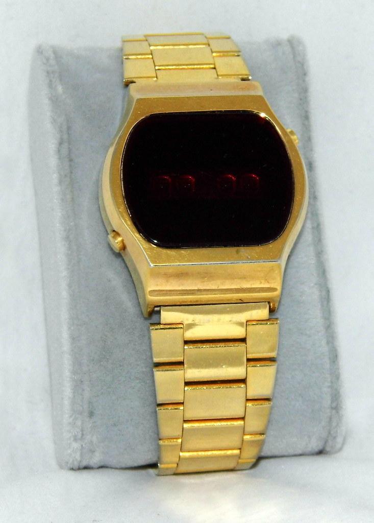 Vintage Men's Red LED Wrist Watch, U.S. Module, Swiss-Made ...