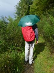 Wanderer in Regen und Sonne