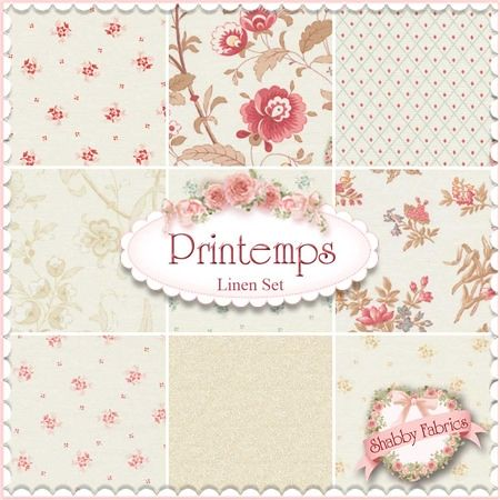 3 Sisters For Moda Printemps Fabric Collection In Linen
