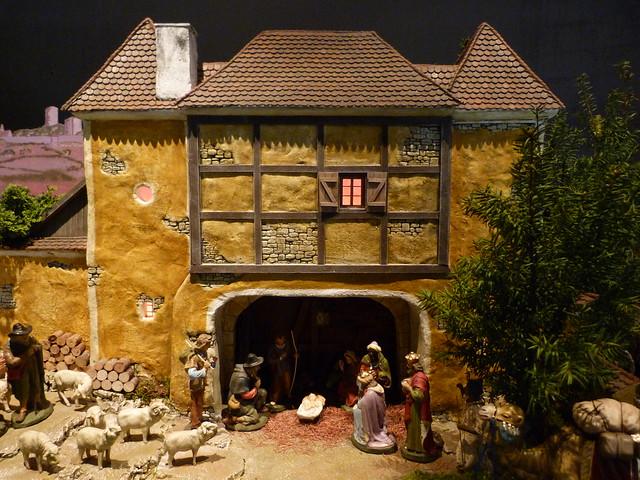 Belén típico de Alemania expuesto en la Residenz de Bamberg (Norte de Baviera, Alemania)