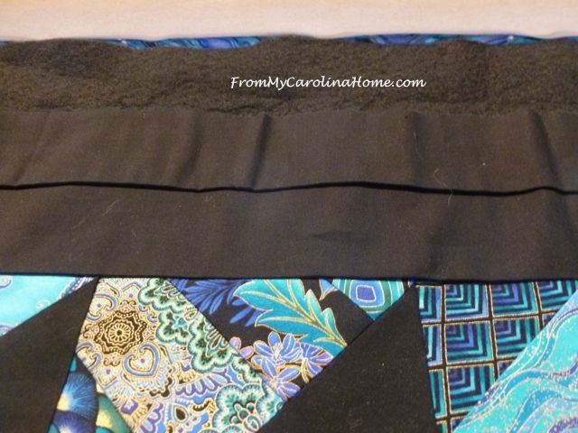 Blue Black and Gold Quilt ~ From My Carolina Home
