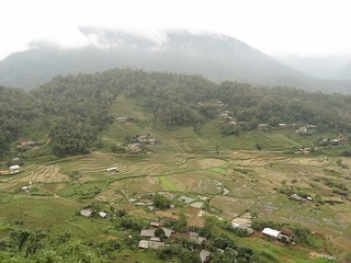 terraced village