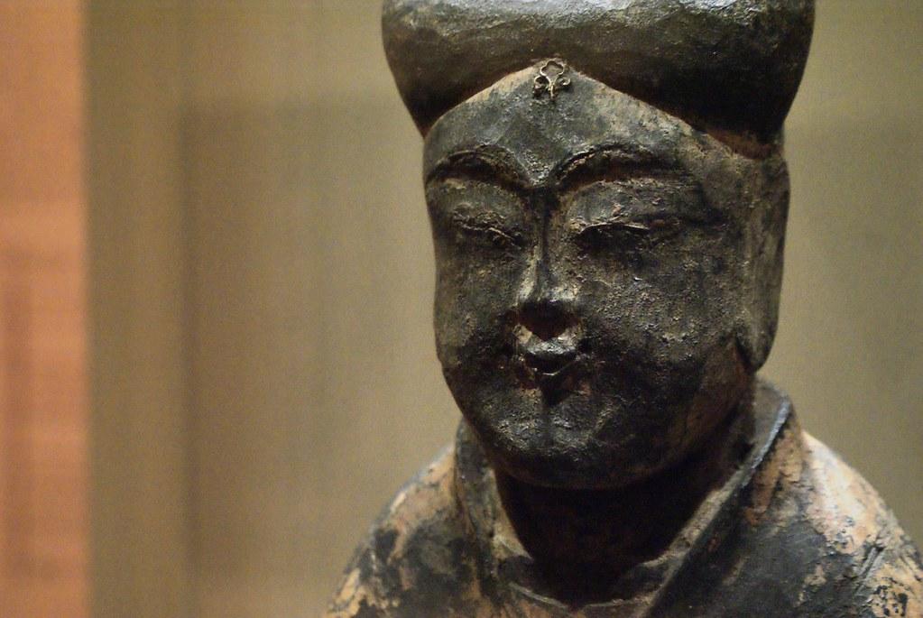 Sculpture chinoise de Bouddha au musée asiatique de Prague.