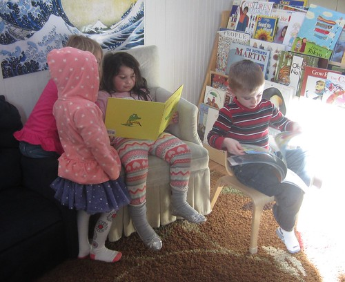 reading with friends