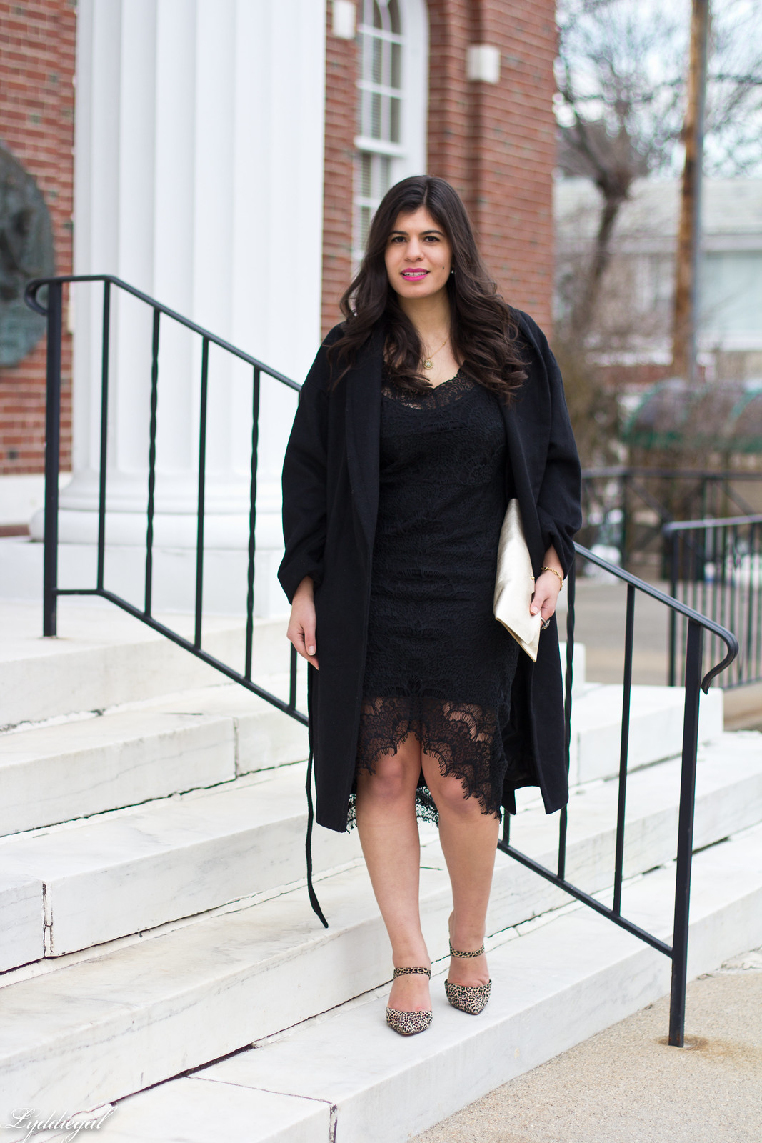free people lace dress, wrap coat, leopard pumps-1.jpg