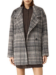 AllSaints check coat