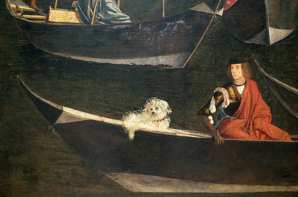 Apparently no matter the era, rich people liked to tote around little fluffy dogs.