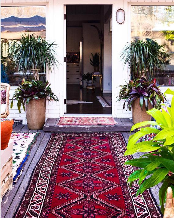 bohemian entryway