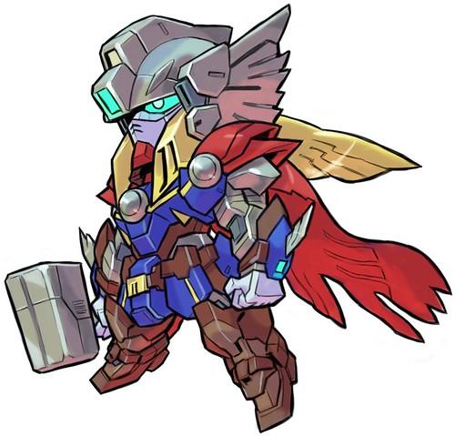 Marvel's Avengers Gundam by Aburaya Tonbi - Wing Gundam Thor